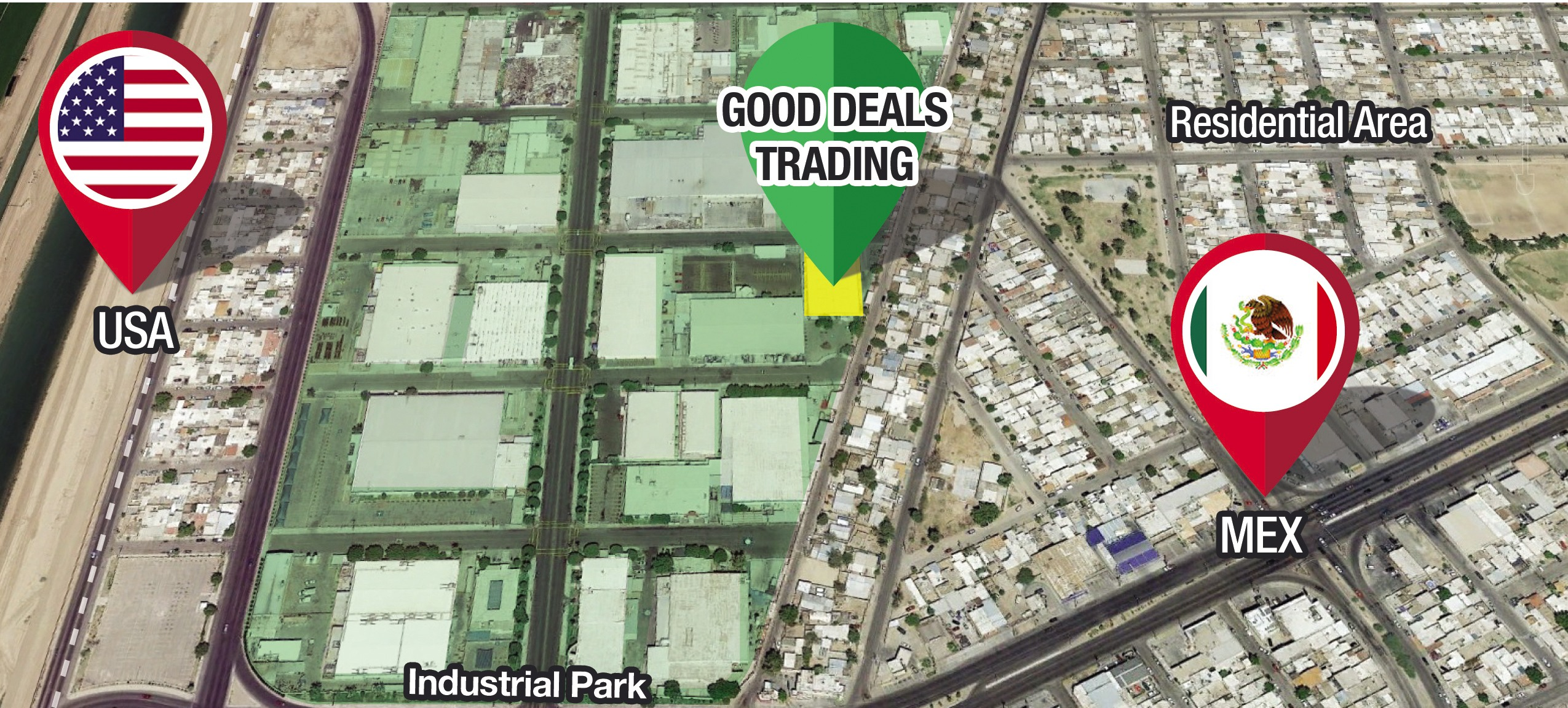 Good Deals Trading Location - PIMSA Industrial Parks in Mexico