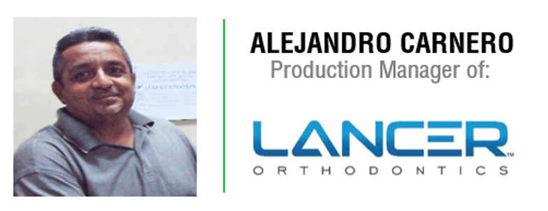 ALEJANDRO CARNERO - PRODUCTION MANAGER OF LANCER - PIMSA INDUSTRIAL PARKS IN MEXICO