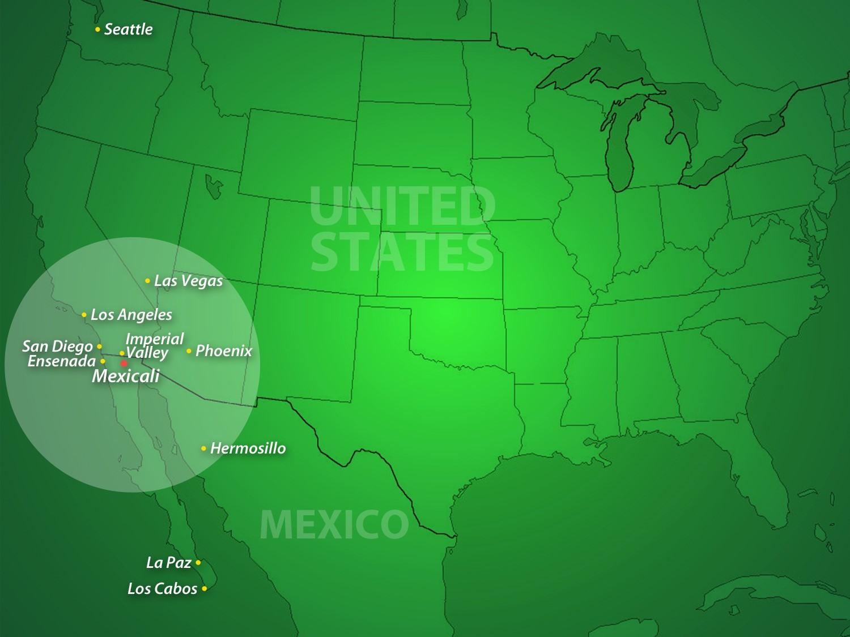 PIMSA Mega Region MAP - Industrial Parks in Mexico 2