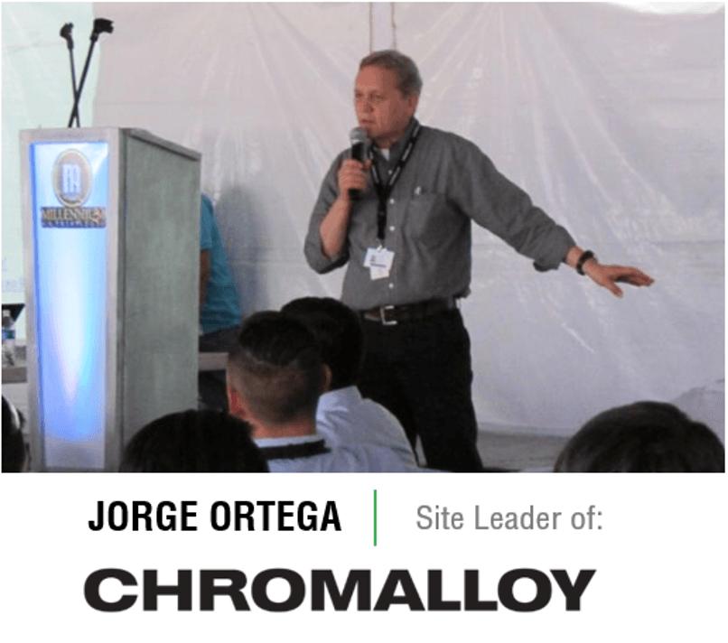 Jorge Ortega - site leader - Chromalloy